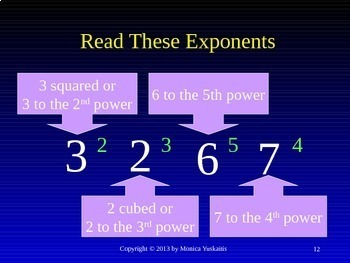 Common Core 6th - Exponents