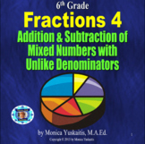 6th Grade Fractions 4 - Addition & Subtraction of Mixed Numbers Lesson