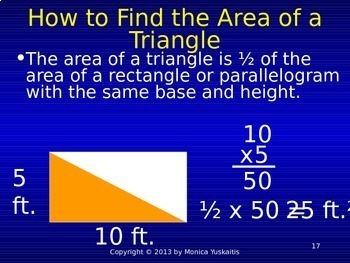 Common Core 6th - Geometry 1 - Area of Triangles
