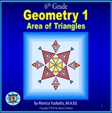 6th Grade Geometry 1 - Area of Triangles Powerpoint Lesson
