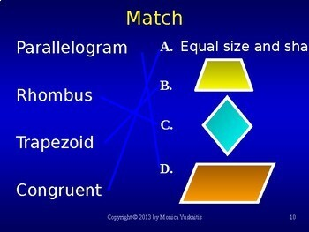 Common Core 6th - Geometry 3 - Areas of Parallelograms, Rhombuses & Trapezoids