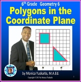 6th Grade Geometry 6 - Polygons in the Coordinate Plane Powerpoint Lesson