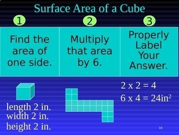 Common Core 6th - Geometry 8 - Surface Area Using Nets