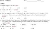 Common Core - 6th Grade - 1st Semester - Final Exam