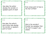 Common Core 6th Grade ELA Question Cards