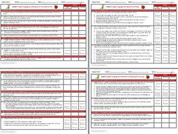 Common Core 6th Grade English Standards Cumulative Progress Reports