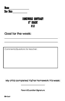 Common Core 6th Grade Homework Packet #12