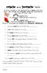Common Core 6th Grade Homework Packet #15