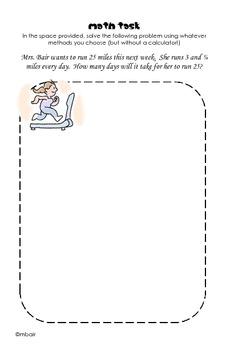 Common Core 6th Grade Homework Packet #5