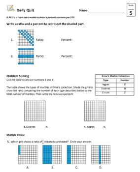 Common Core - 6th Grade Math Quiz Pack - 47 Quizzes First Half Bundle