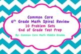 Common Core 6th Grade Math Spiral Review Problem Set Bundle!