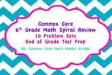 Common Core 6th Grade Math Spiral Review Problem Set Bundle!