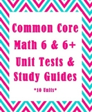 Common Core 6th Grade Math Unit Test & Study Guide Bundle: