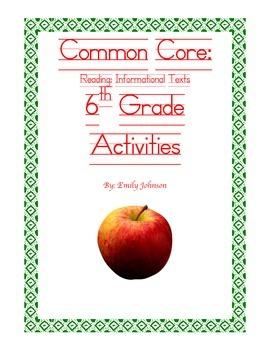Common Core 6th Grade Reading