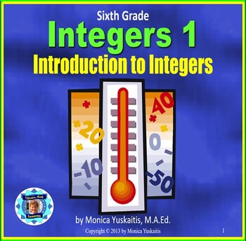 Common Core 6th - Integers 1 - Introduction to Integers