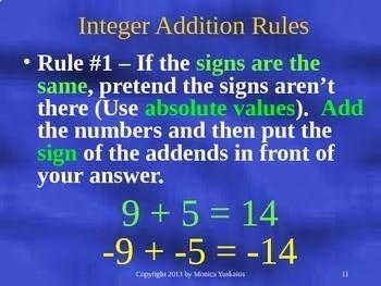 Common Core 6th - Integers 3 - Subtracting Integers