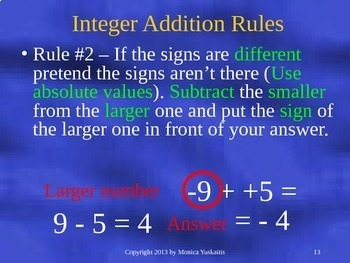6th Grade Integers 4 - Multiplying and Dividing Integers Powerpoint Lesson