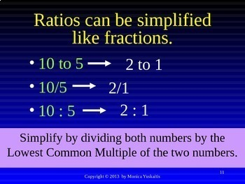 Common Core 6th - Ratio 1 - Introduction to Ratios