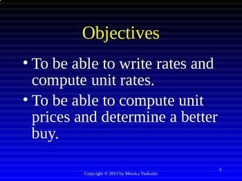 Common Core 6th - Ratio 2 - Rates & Unit Rates