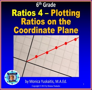 Common Core 6th - Ratios 4 - Plotting Ratios on the Coordinate Plane