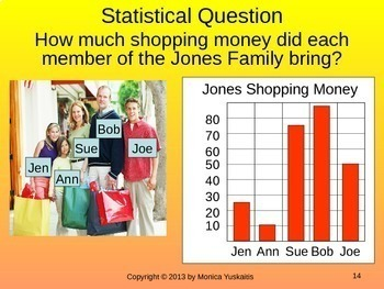 6th Grade Statistics & Data 1 - Statistical Questions & Types of Data Lesson