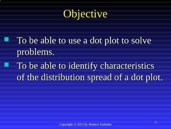 Common Core 6th - Statistics & Data 3 - Dot Plot and Data Distribution
