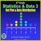 6th Grade Statistics & Data 3 - Dot Plot and Data Distribution Powerpoint Lesson