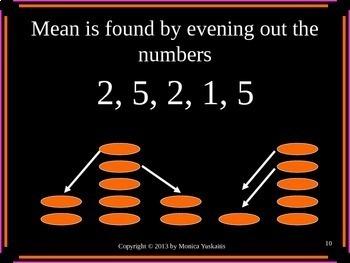 6th Grade Statistics & Data 2 - Mean, Median, Mode & Range Powerpoint Lesson