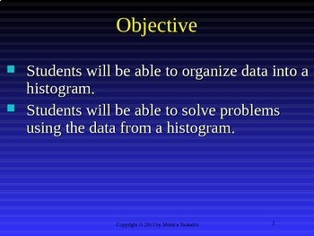 6th Grade Statistics & Data 4 - Histogram Powerpoint Lesson