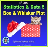 6th Grade Statistics & Data 5 - Box and Whisker Plot Powerpoint Lesson