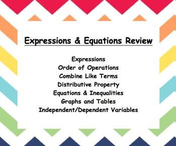 Common Core – 6th grade – Data & Statistics Review Booklet