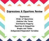 Common Core – 6th grade – Expressions and Equations Review