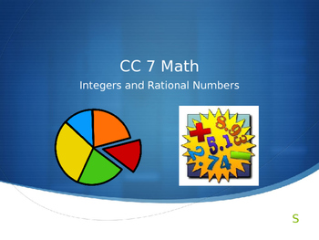 7.NS Common Core 7 Math Unit 1 The Number System Powerpoint Review