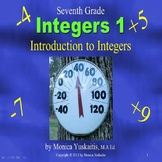 Common Core 7th Grade Integers 1 - Introduction to Integers