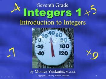 *Common Core 7th Grade - Integers Bundle - Four Lessons