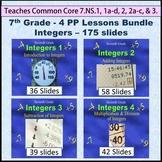 Common Core 7th Grade - Integers Bundle - Four Lessons
