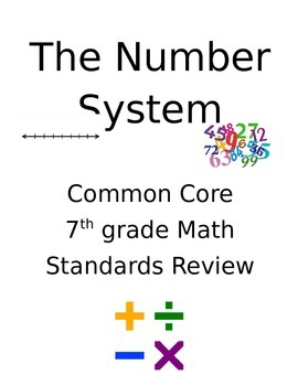 Common Core 7th Grade Math Review - The Number System