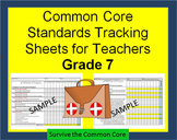 Tracking Sheets (EDITABLE) Common Core 7th Grade Math by D