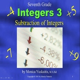 Common Core 7th Integers 3 - Subtracting Integers