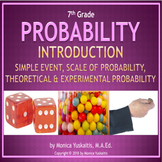 7th Grade Probability 1 - Introduction & Simple Event Powerpoint Lesson