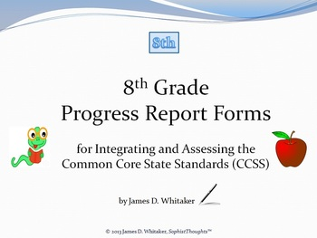 Common Core 8th Grade English Standards Progress Reports
