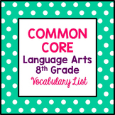 Common Core 8th Grade Language Arts Vocabulary List