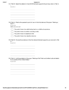Common Core 9th and 10th Grade English Assessment: Informational Text (4A)