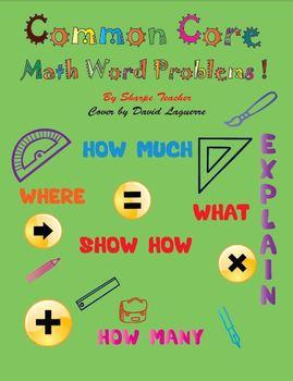 Common Core math first grade word problem set
