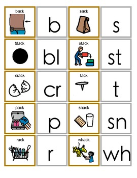 Common Core ACK Word Family Activity for Language Arts