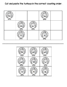 Common Core AMSTI (NBT.1) Counting Order 50-100