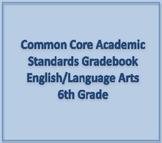 Common Core Academic Standards Gradebook 6th Grade English