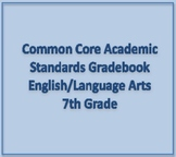 Common Core Academic Standards Gradebook 7th Grade English/Language Arts