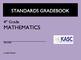 Common Core Academic Standards Gradebook 4th Grade Math