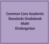 Common Core Academic Standards Gradebook Kindergarten Math